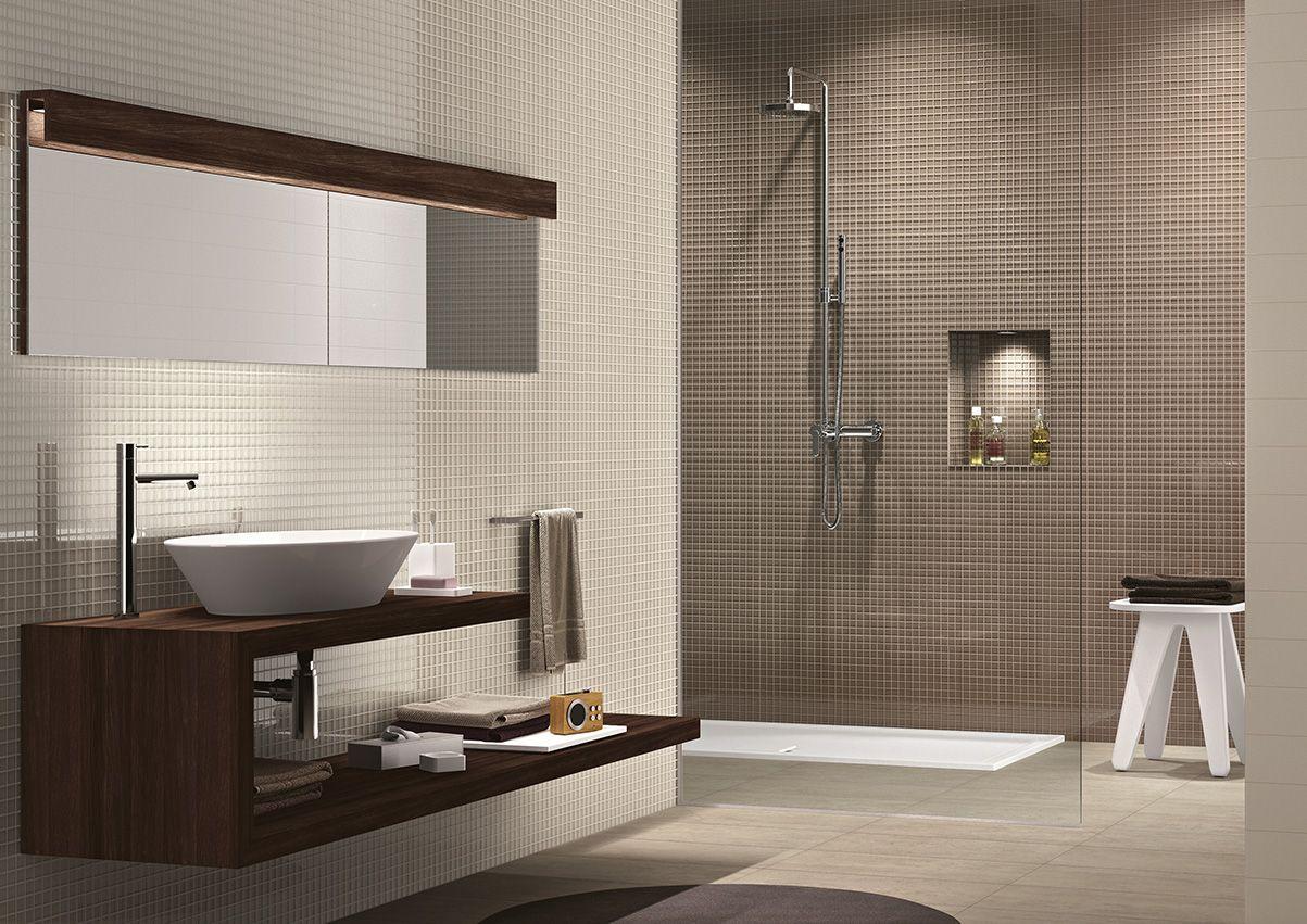 Ragno crystal avorio tortora 2 3x2 3 cm p net 30x30 for Bathroom design 3x2