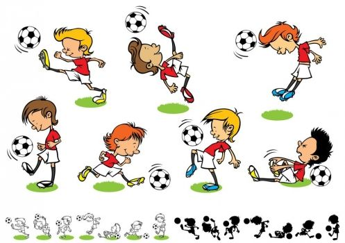 Dibujos De Niños Jugando Futbol Dibujos Animados para Dibujar