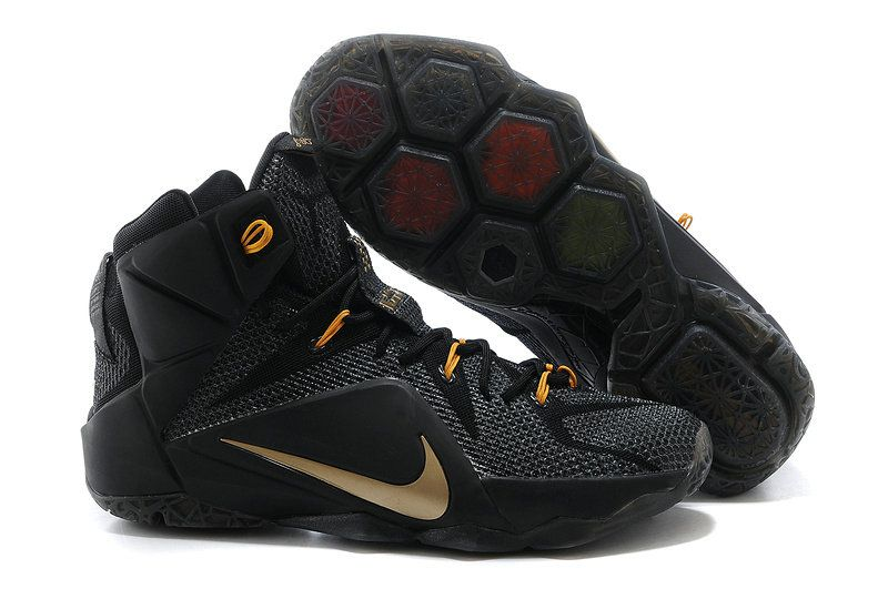 save off 62122 7c305 WMNS LeBron 12 GS XII ID Black Gold