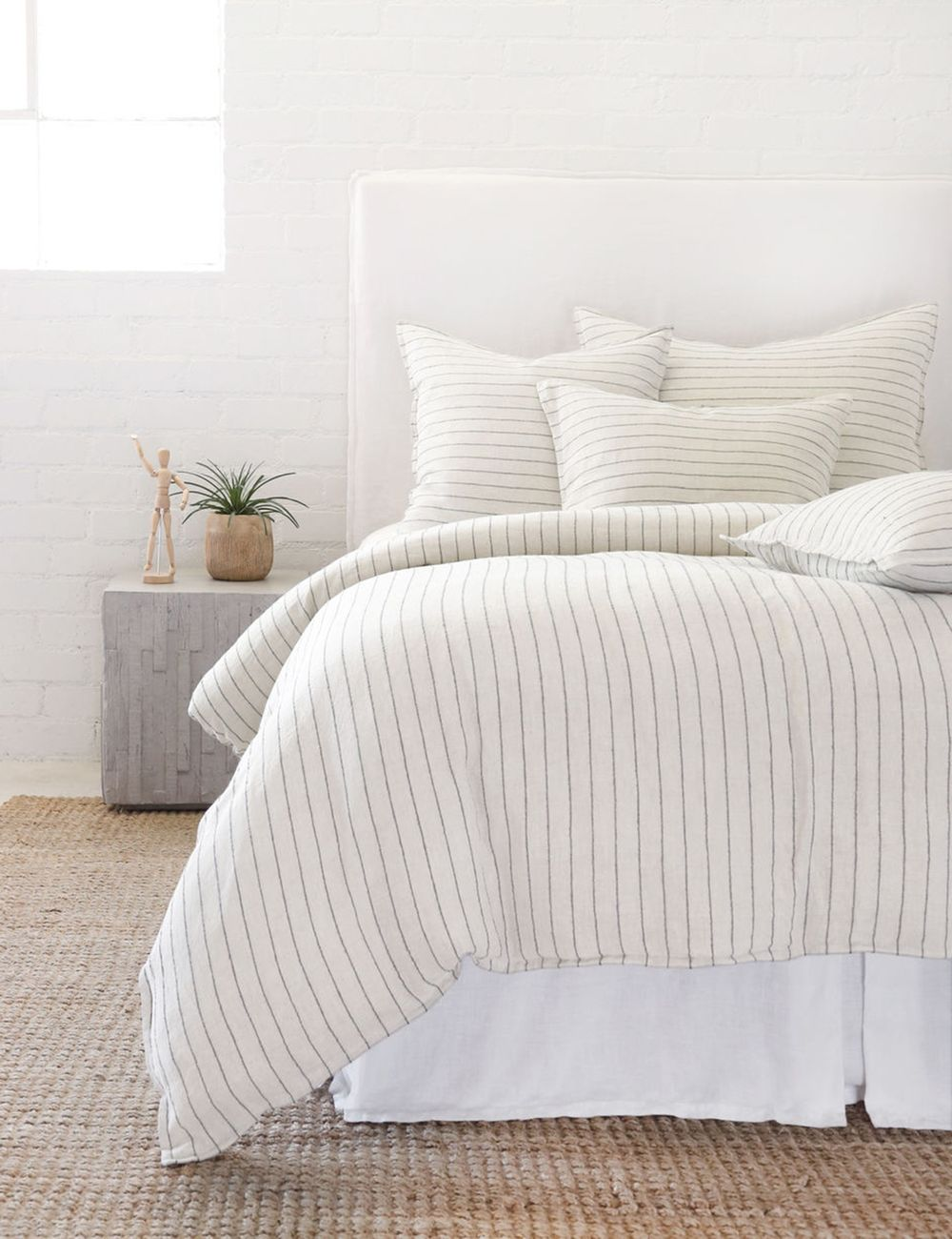 Pom Pom at Home Blake Duvet, Cream and Gray in 2020