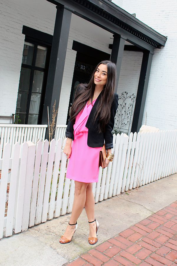 hot pink Cynthia Rowley dress. www.withlovefromkat.com