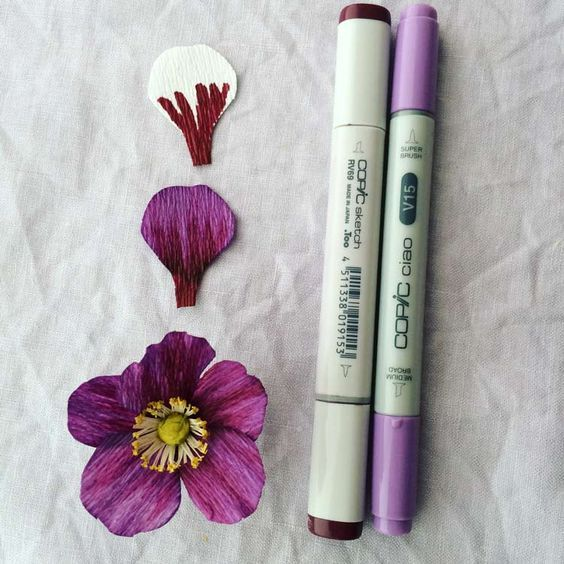 How to make crepe paper flowers with copic markers copic paper how to make crepe paper flowers with copic markers mightylinksfo Gallery