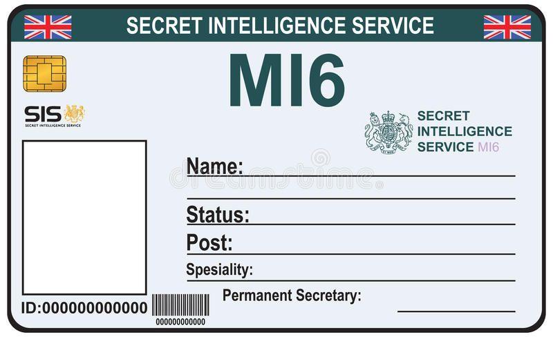 Identity A Secret Agent Of Mi 6 The Identity A Secret Agent Of Mi 6 Certificat Sponsored Ad Advertisement Id Card Template Card Template Secret Agent