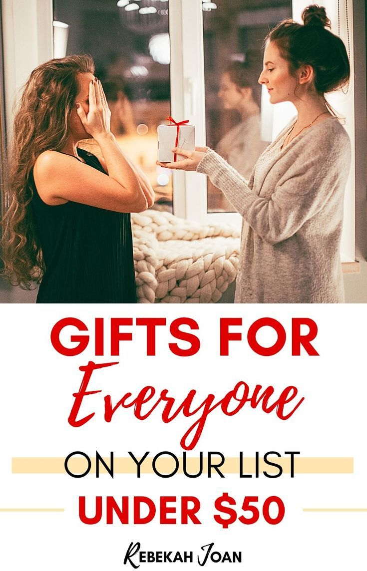 Gifts for Everyone on Your List Under $50 #cheapgiftideas