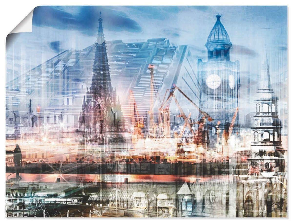 Photo of Buy Artland Canvas Print »Nettesart: Hamburg Abstract Collage« online OTTO