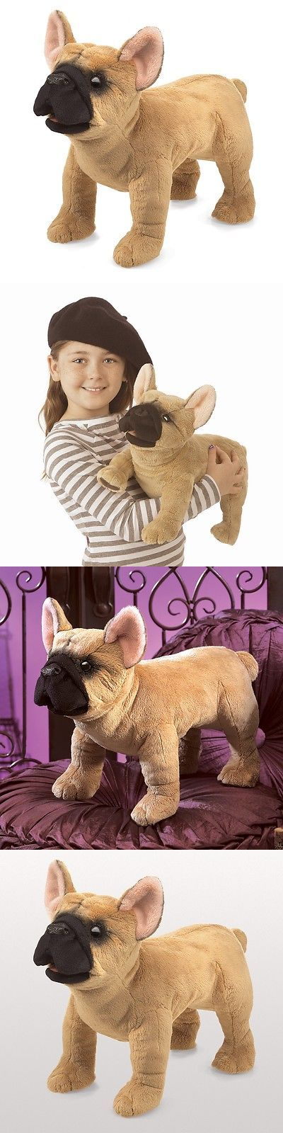 Puppets 19180 French Bulldog Puppet W Movable Mouth Folkmanis