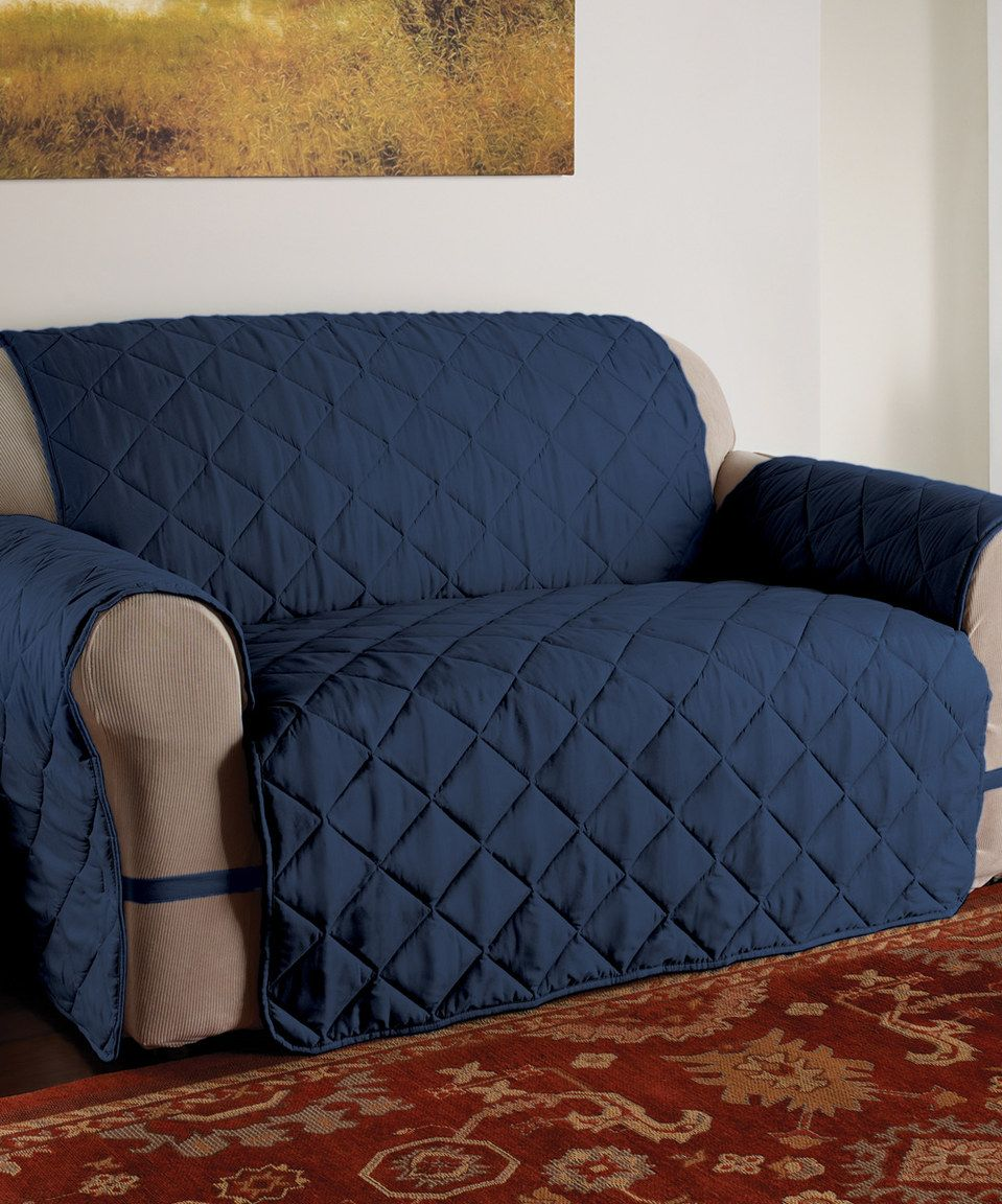 Love This Navy Microfiber Ultimate Couch Cover By Jeffrey Fabrics