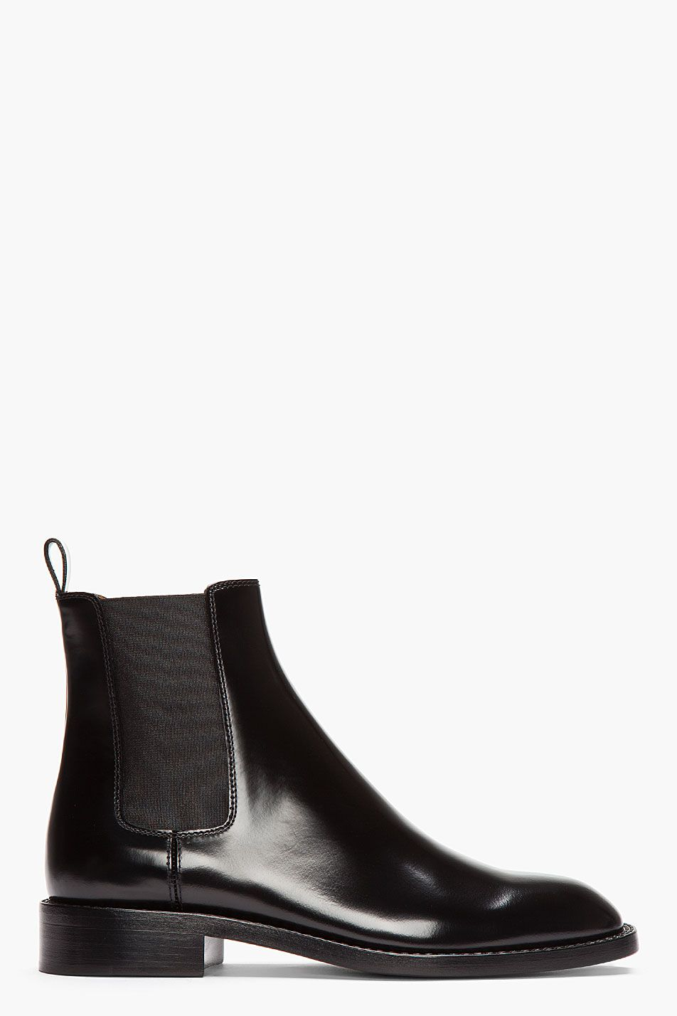 Saint Laurent Black Patent Leather Rock Chelsea Boots Zapatos Bonitos Zapatos Moda Hombre