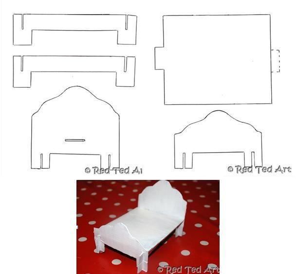 Cama De Carton Cama Para Muñecas Muebles Para Muñecas Y