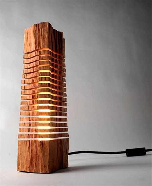 Sculptural Lighting Fixtures Bringing Cypress Wood into Modern
