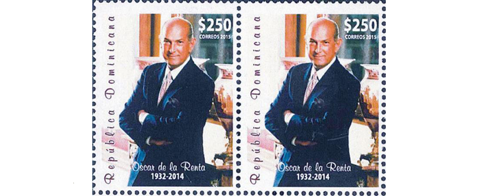 Un sello postal a Oscar de la Renta