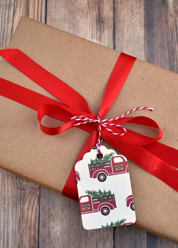 Handmade Red Truck Christmas Gift Tags With String - Rustic Christmas Gift Tags - Christmas Tags Han & Handmade Red Truck Christmas Gift Tags With String - Rustic ...