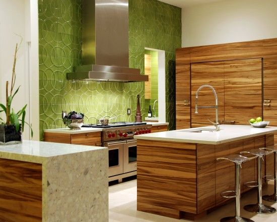 Kitchen Design Works Custom Not Crazy About The Cupboards But I Totally Love That Green Wall Review