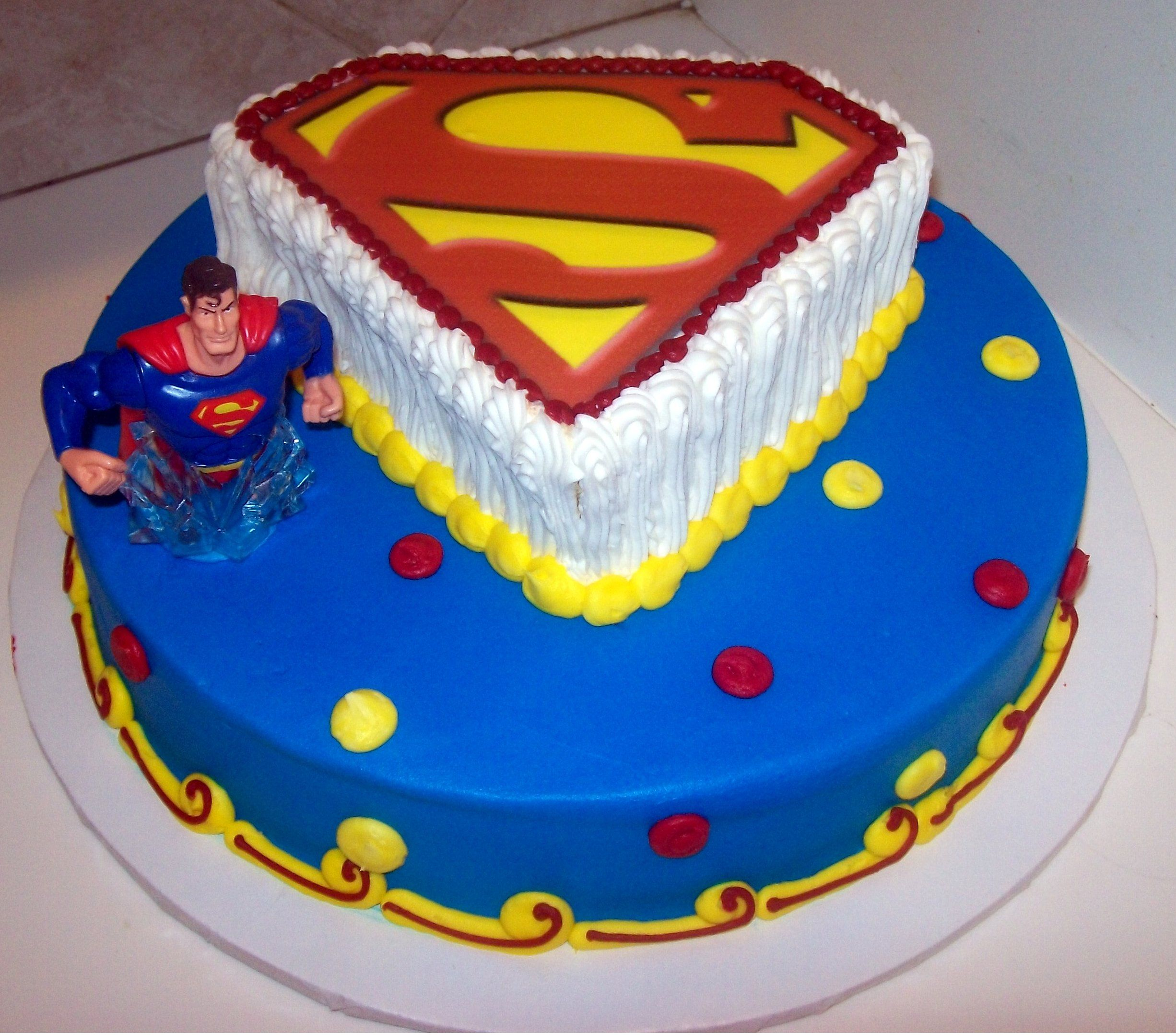 You can choose a cake that only features the Superman logo
