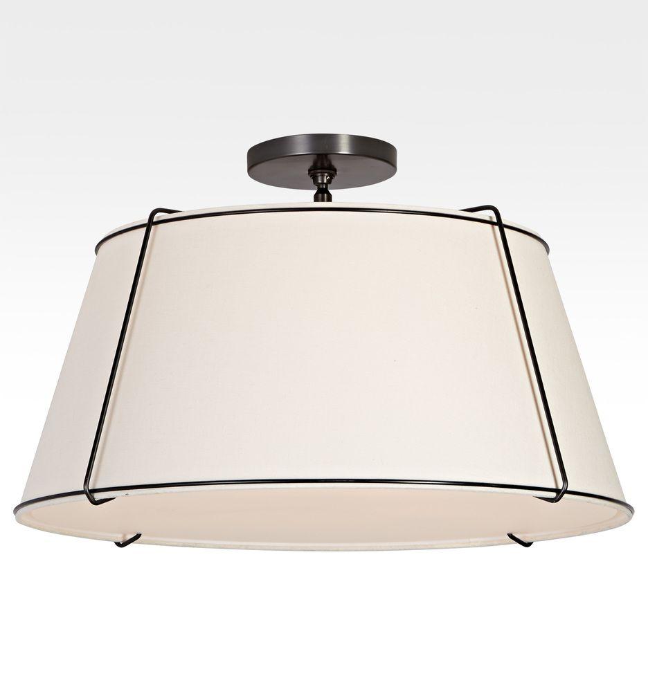 Conical 24 Drum Semi Flush Fixture Rejuvenation Semi Flush Fixtures Light Accessories