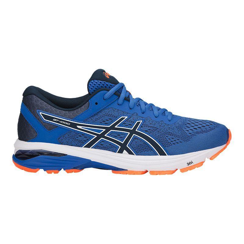 ASICS Men's GT 1000 6 Running Shoes - Blue/Orange   Running ...