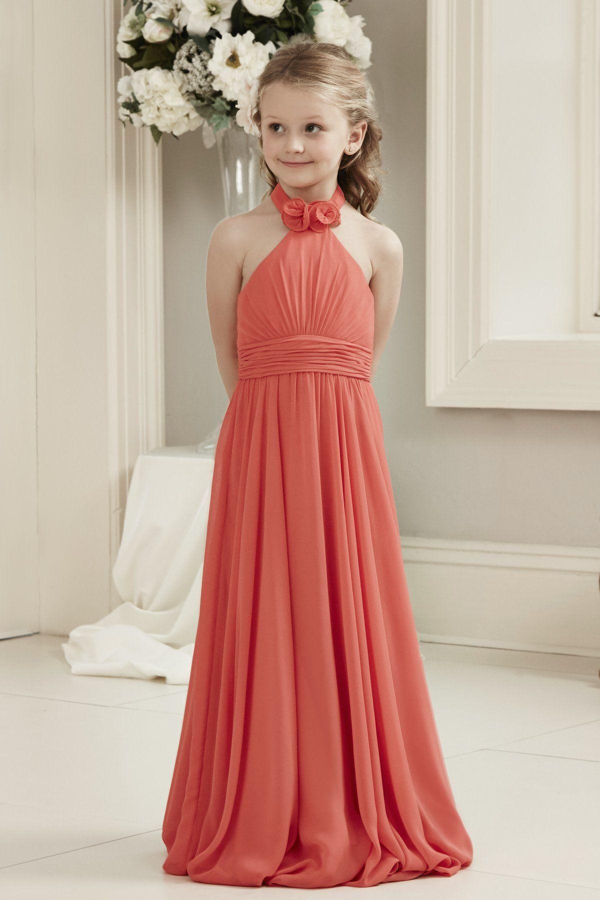 Alexia designs style chiffon long dress with high neckline