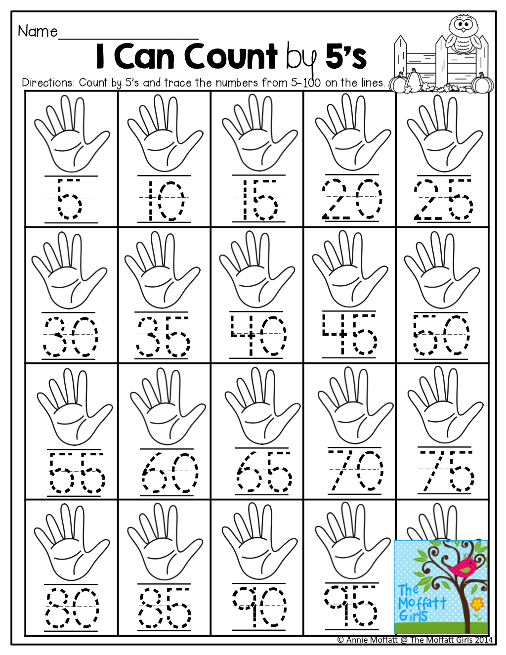 small resolution of Counting by 5's and TONS of other helpful printables!   Counting in 5s
