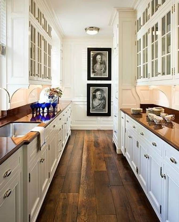 Narrow Galley Kitchen Designs: Wood Design Galley Kitchen Floor Plans : Floor Ideas For