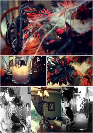 A Spooky Halloween Centerpiece From The Dollar Tree Savvy Sassy - halloween centerpiece
