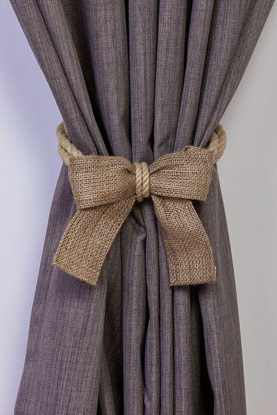 rope curtain tiebacks