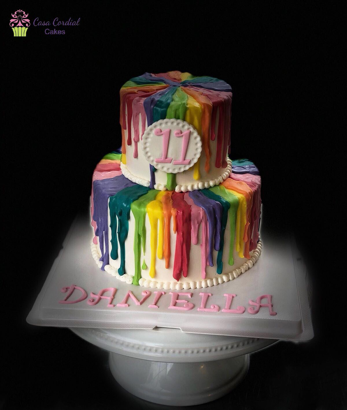 Slime Birthday Theme Cake
