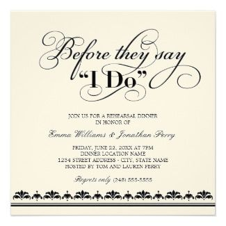 Invitation For Send Off Party Rehearsal Dinner Invitations