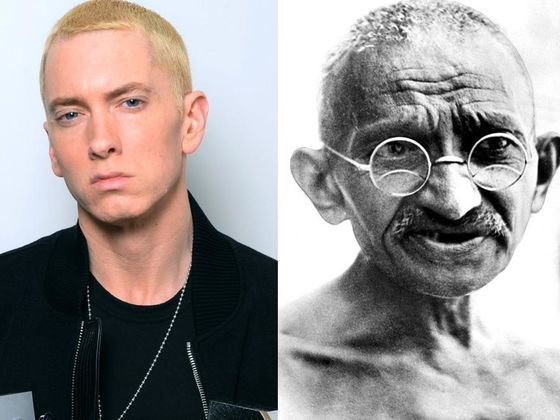 """I got: """"Close Call - You got a decent amount right., but was that all just luck?"""" (6 Right!) - Who Said It: Eminem Or Mahatma Gandhi?"""