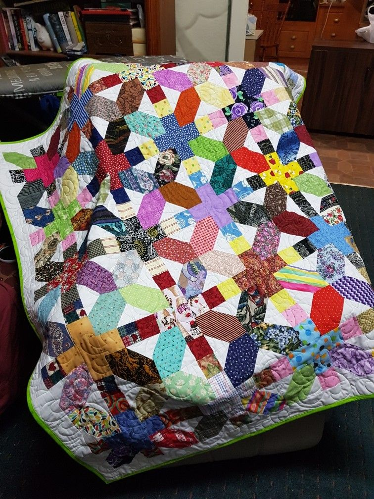 Scrappy Quilt I Saw On Pinterest So This Is A Return Share