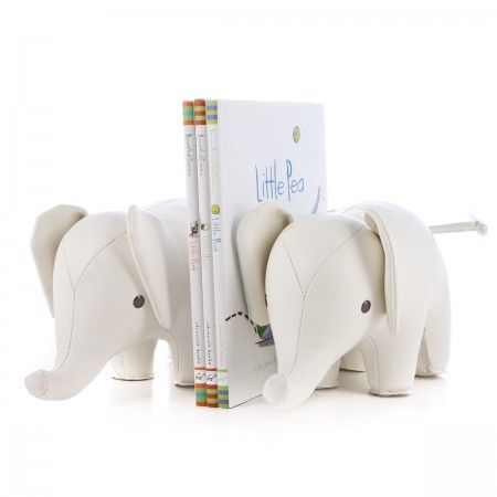 White Ellie Bookends