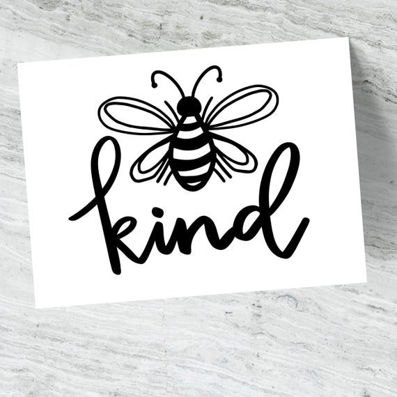 Bee Kind Decal Be Kind Bumper Sticker Vinyl Sticker | Etsy