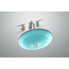 KOHLER Serif Vapour Green Cast Iron Undermount Bath Sink I like ...