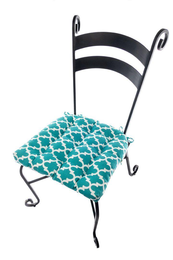 Sensational Fulton Ogee Aqua Indoor Outdoor Dining Chair Pads Patio Uwap Interior Chair Design Uwaporg