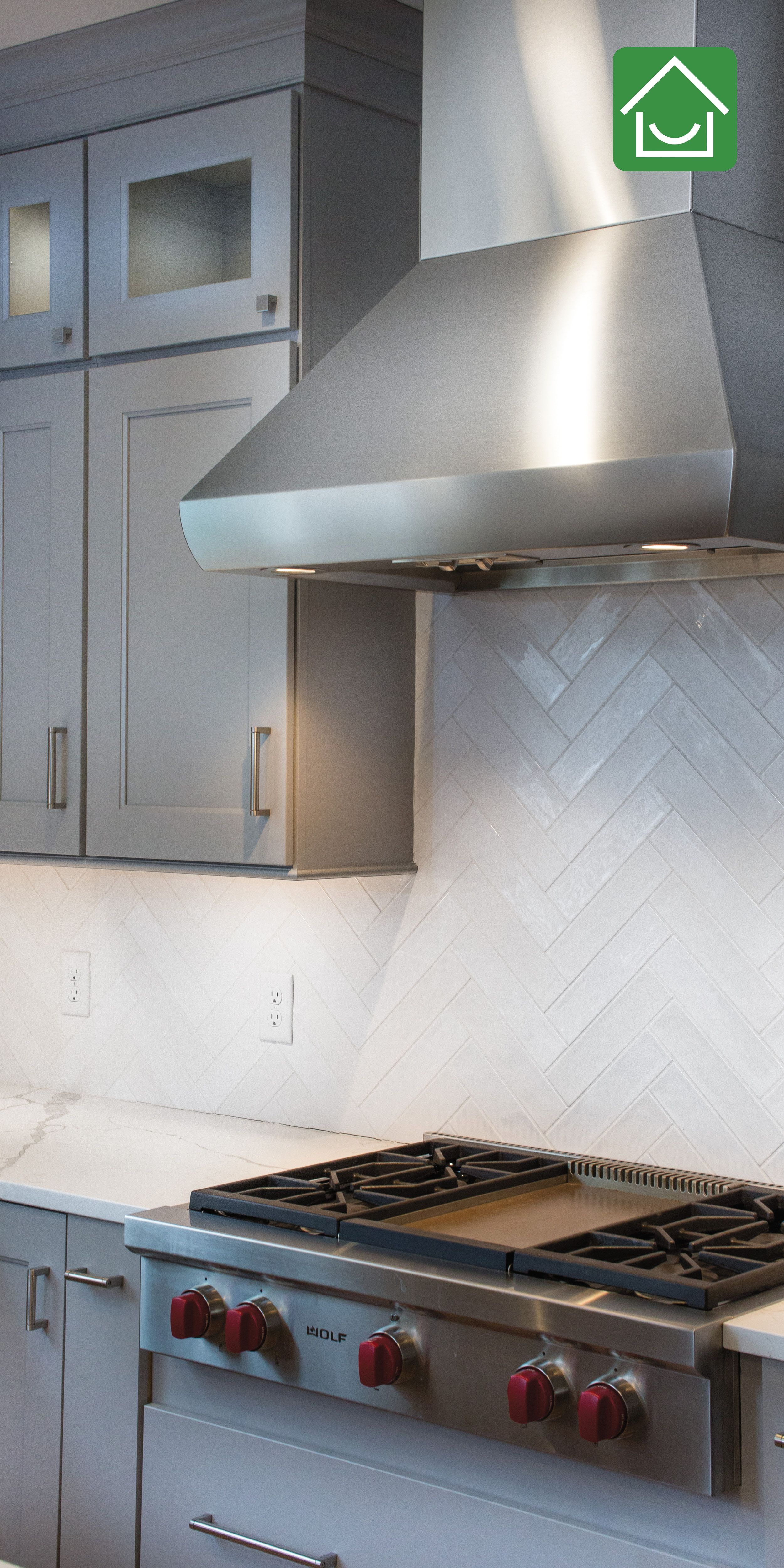 Herringbone Subway Tile Backsplash White Subway Tile