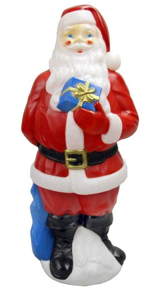"34"" Outdoor Light-Up Blow Mold Santa Decoration Christmas Outdoor Decor #Doesnotapply"