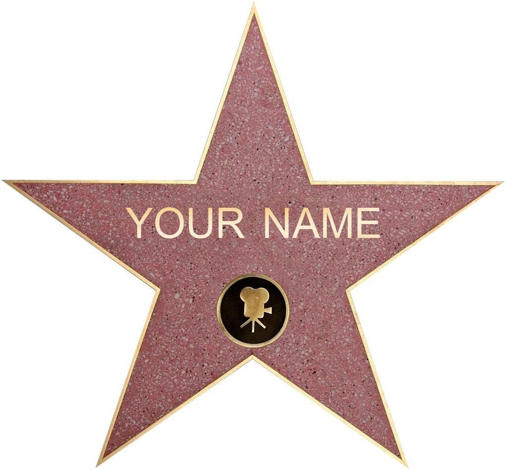 personalized walk of fame star decal. Black Bedroom Furniture Sets. Home Design Ideas