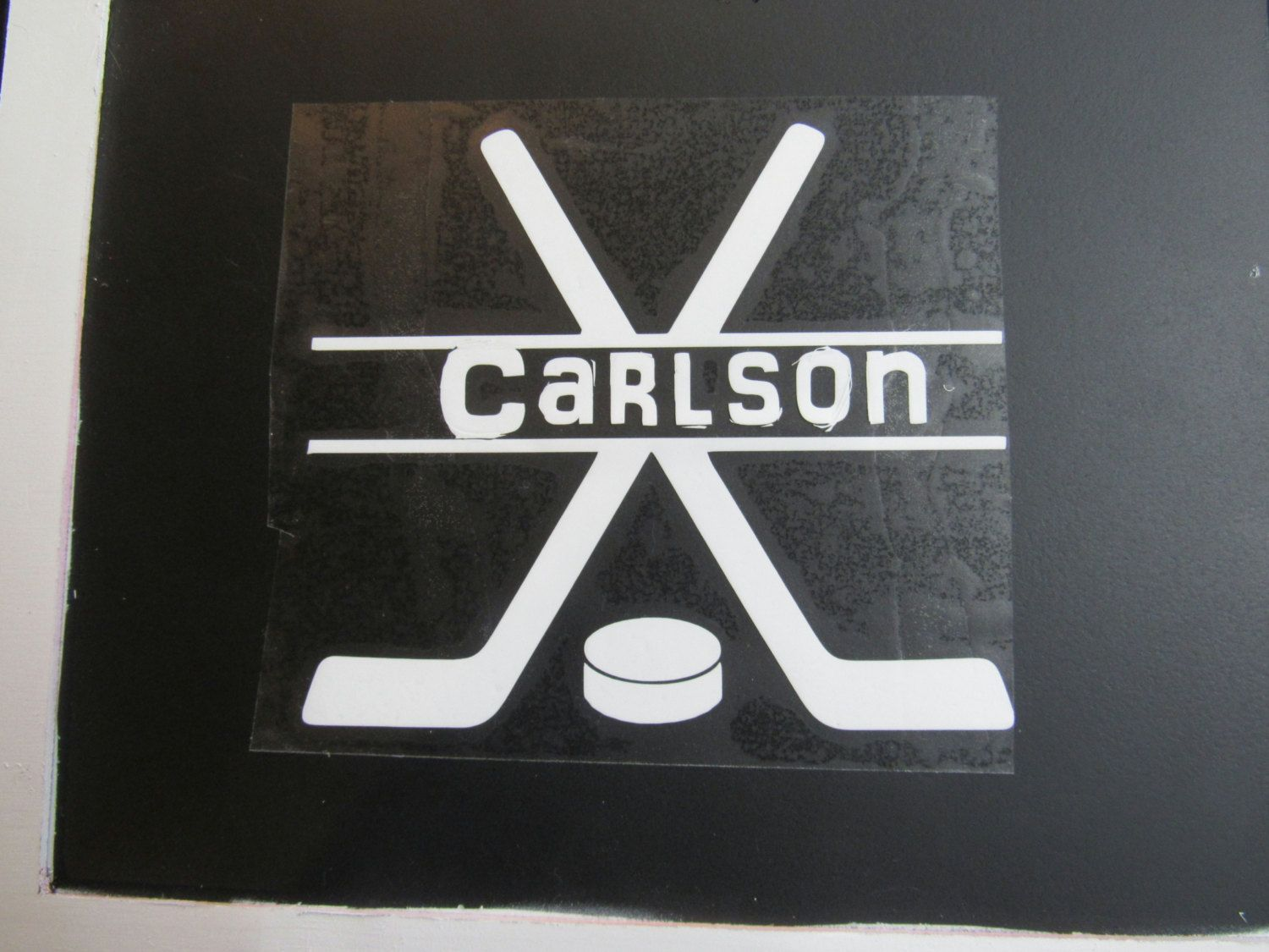 Personalized Hockey Vinyl Decal Hockey Sticker Hockey Label Sport Bag Decal Water Bottle Decal Laptop Decal Water Bottle Decal Laptop Decal Vinyl Decals