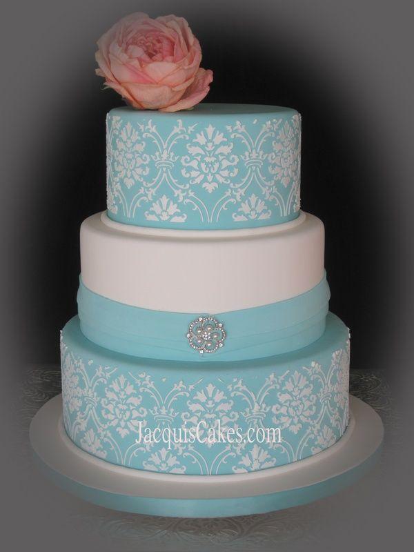 Teal Wedding Cake Ideas Tiffany Blue