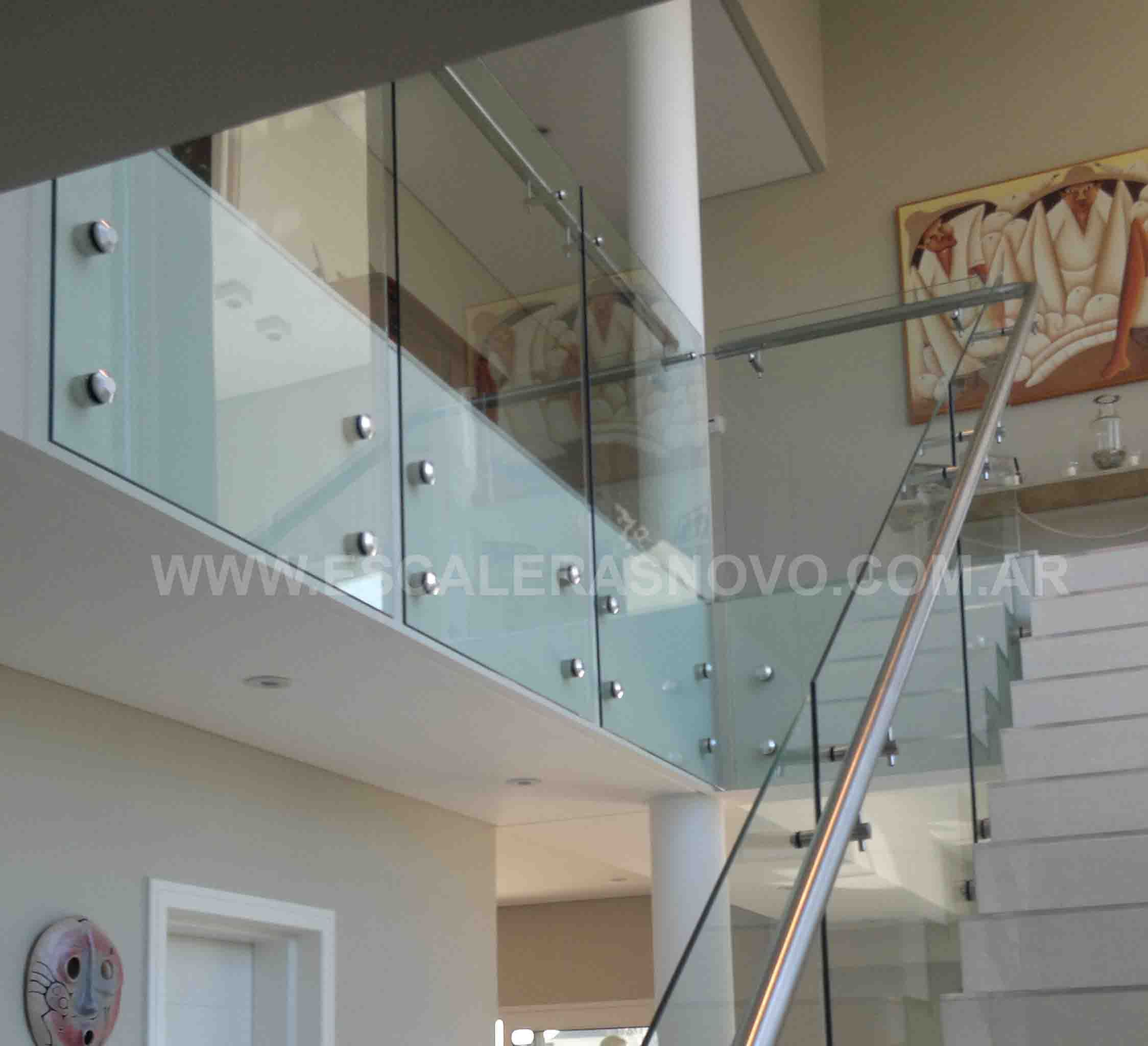 Resultado de imagen para escalera vidrio templado home for Barandas de escalera