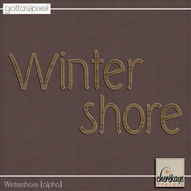 Wintershore Alpha. Digital Scrapbook product at Gotta Pixel. www.gottapixel.net/