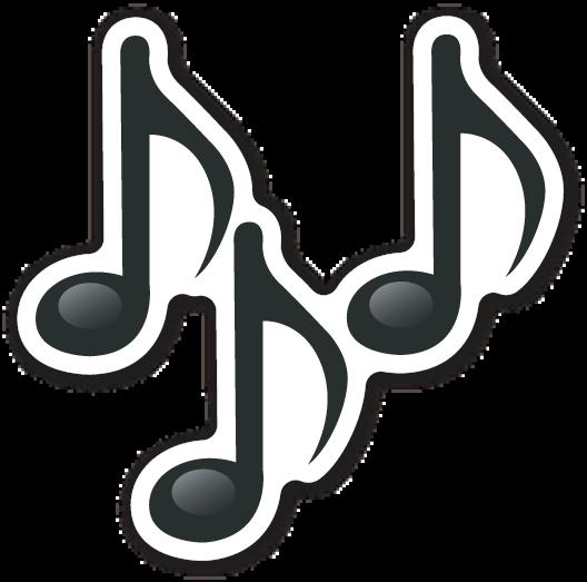 Multiple Musical Notes Desenhos De Instrumentos Musicais Adesivos Sticker Adesivos De Scrapbook