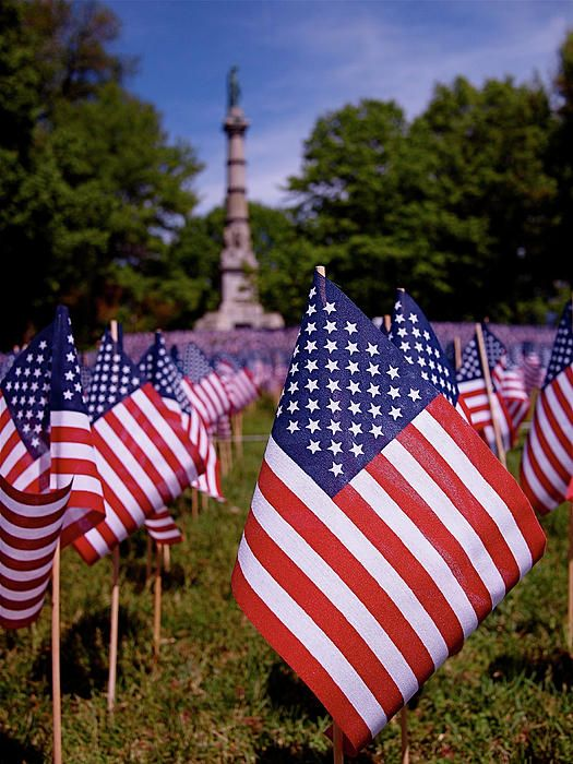Memorial Day Flag Garden By Rona Black The Massachusetts Military Heroes Fund Has Planted 20 000 Flags In Fron Memorial Day Flag Memorial Day I Love America