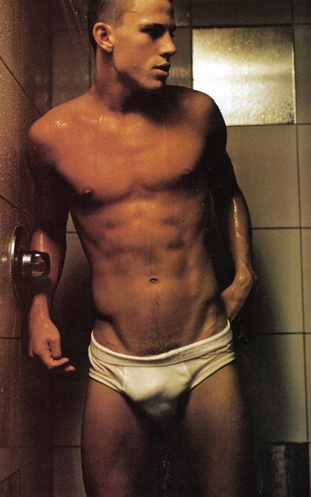 Channing Tatum...leaving little (though looking not really) to the imagination here