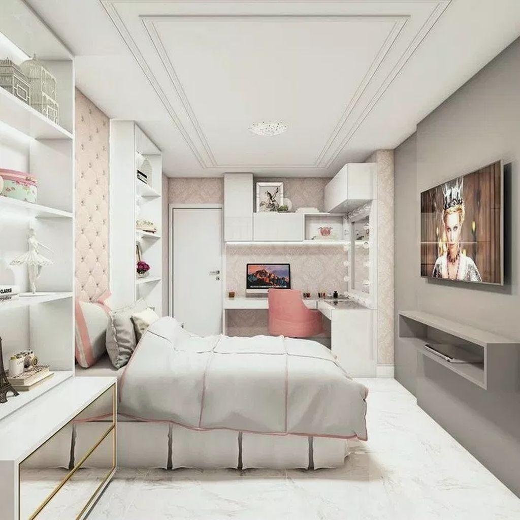 20 Cutest Teenage Girl Bedroom Decoration Ideas In 2020 Girl Bedroom Decor Teenage Girl Bedroom Decor Stylish Bedroom Design