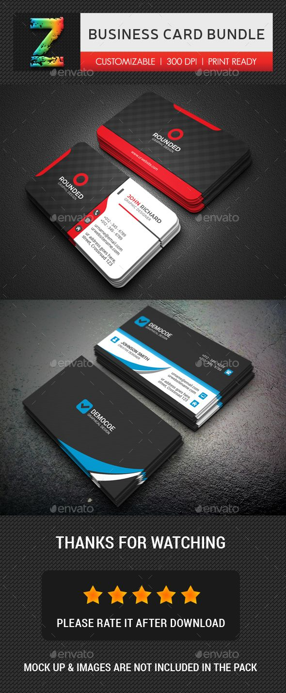Business Card Template PSD Bundle Business Card Templates - Buy business card template
