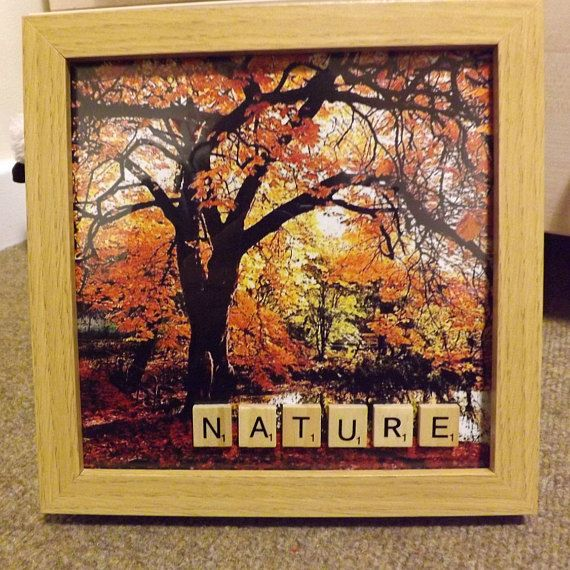 Scrabble art framed photo Nature 8' by 8'