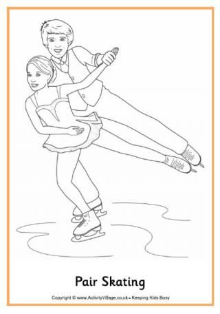 Figure Skating Colouring Page Winter Olympics Coloring Pages