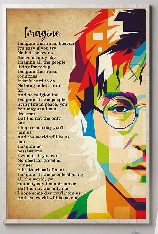 Imagine Lyrics By John Lennon Liedjesteksten Beatles John Lennon