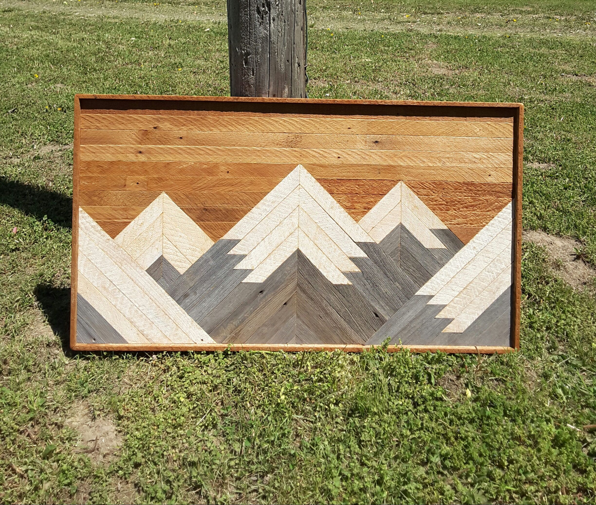 Past Reclaimed Wood Wall Art Mountain Range Lath Art 37 X 21 Wall Decor Shabby Chic Geomet With Images Barnwood Wall Art Reclaimed Wood Wall Art Geometric Wall Art
