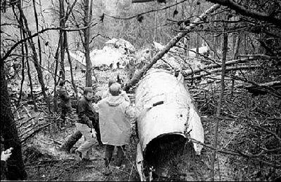 image of the actual plane crash